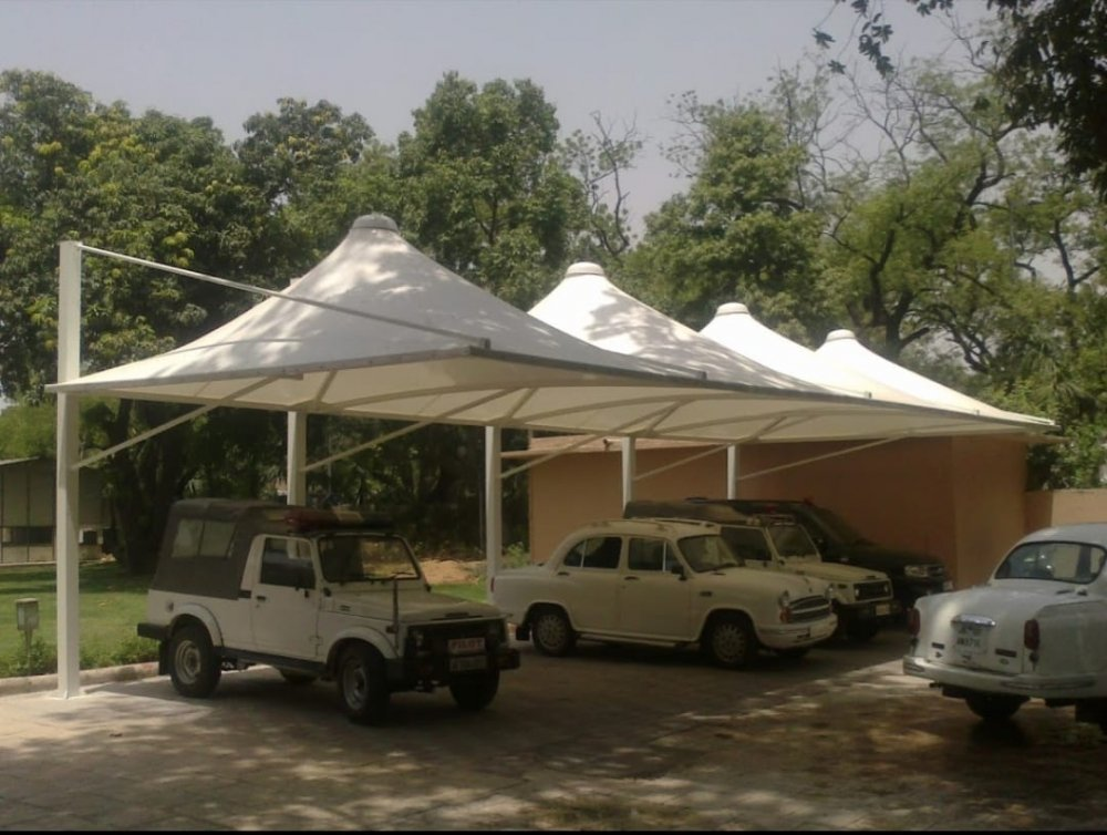 Tensile Car Parking Structure- 1 Manufacturers in Kanpur